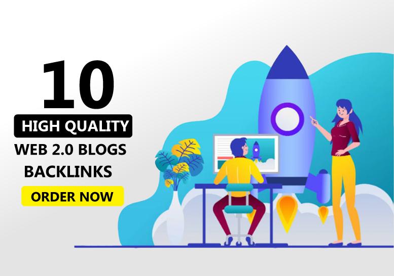 Create 10 web 2.0 backlinks for your website