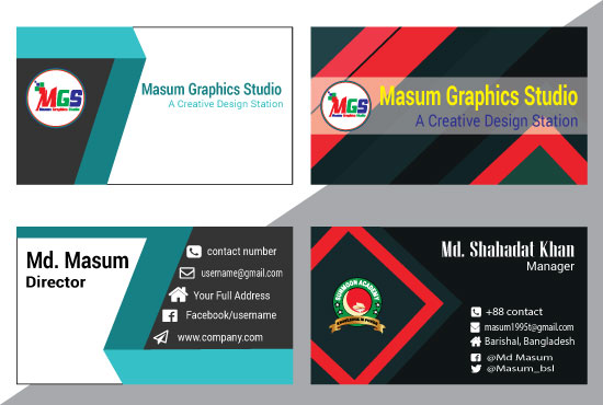 Design an unique and stunning Professional Business card with source file within 24 hours