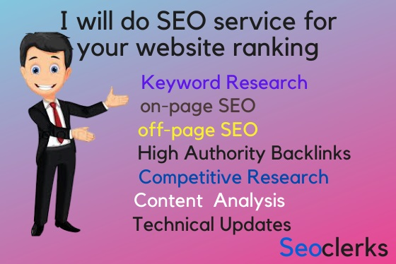 I will do SEO service for your website ranking
