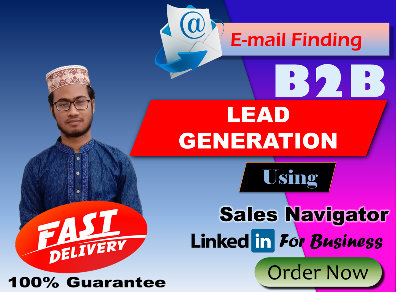 I will do Lead Generation including Finding valid email of target areas