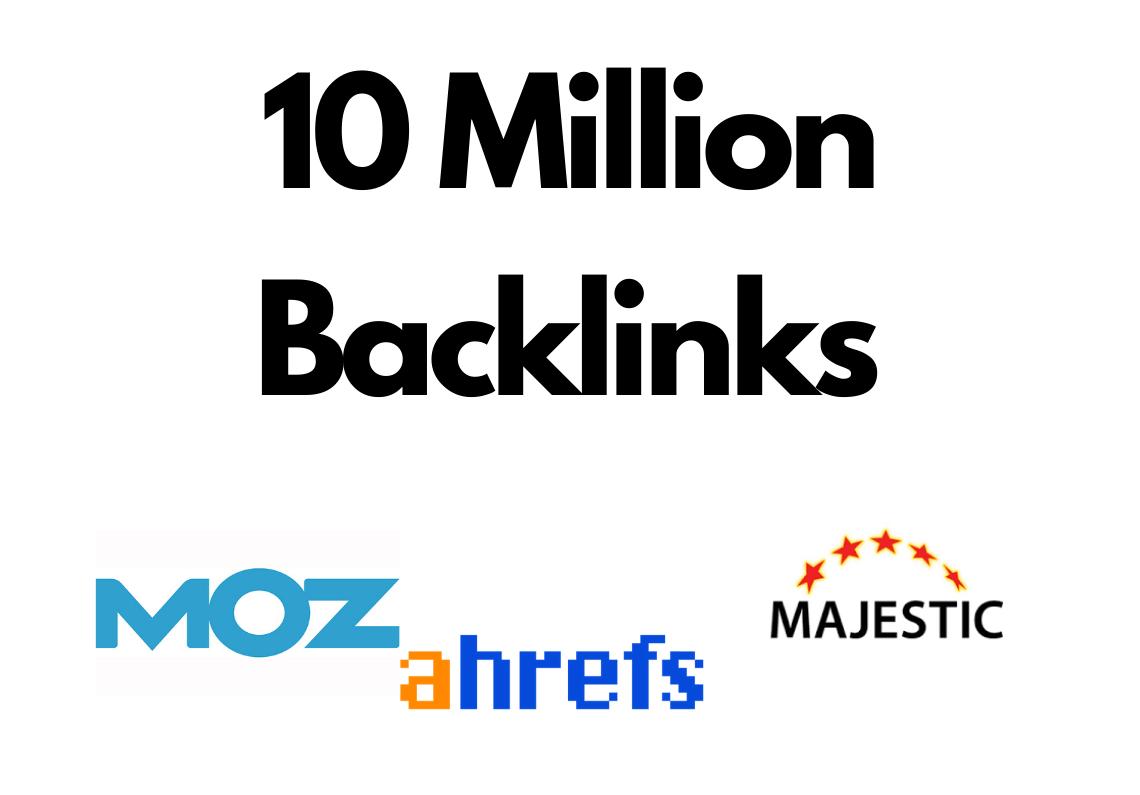 10 Million GSA SER backlinks for websites,  videos,  Channels,  Products