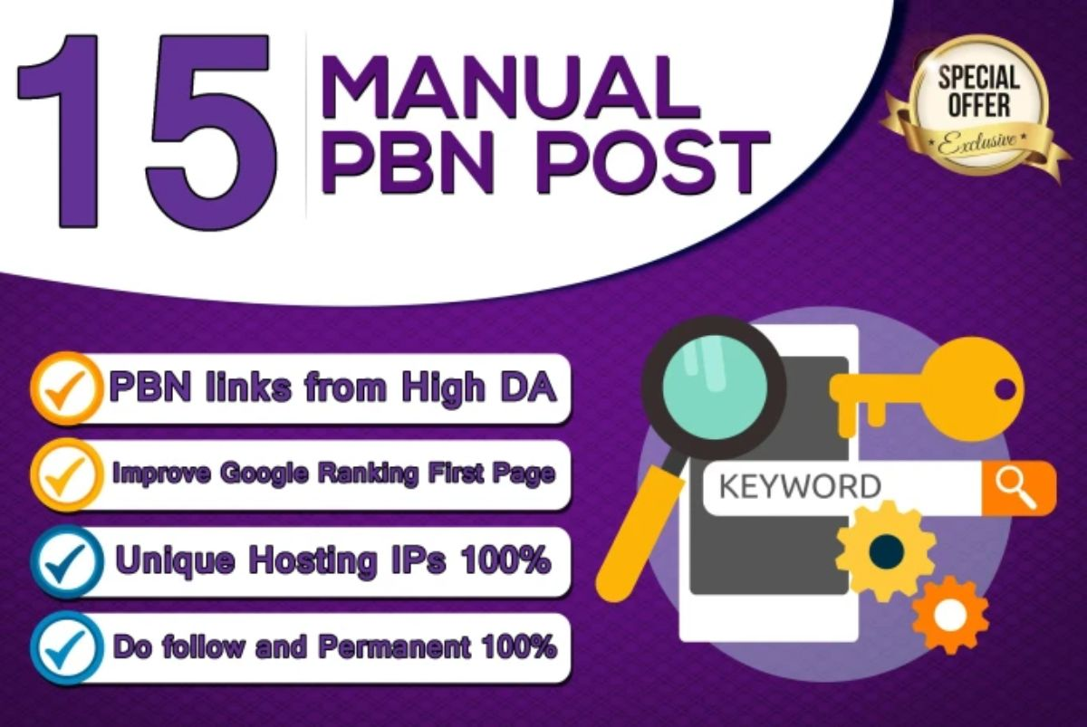 create 15 pbn backlinks high trust flow home page permanent post