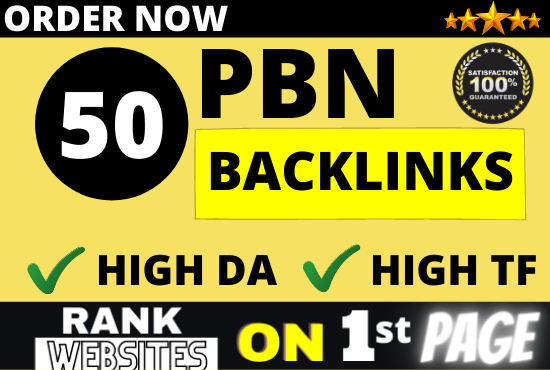 I will do 50 PBN backlinks high da pa and permanent homepage