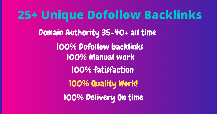 high-quality DA dofollow backlinks Fast delivery