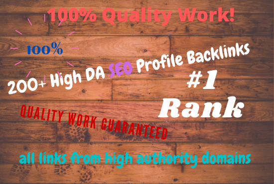 I will create 50+ high da profiles backlinks manually for SEO ranking