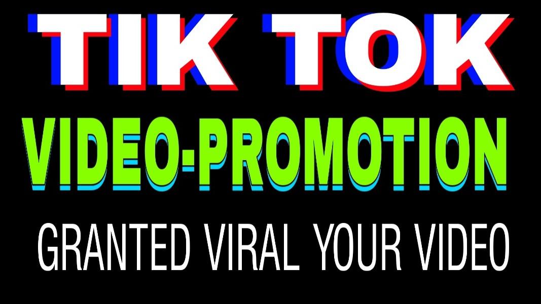 Tiktok video viral social promotion