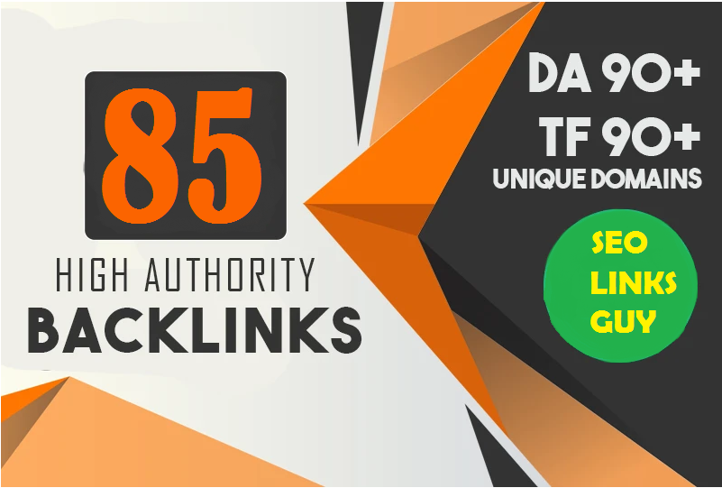 Create 85 High Quality Unique Domain Backlink For Improve Ranking On Google