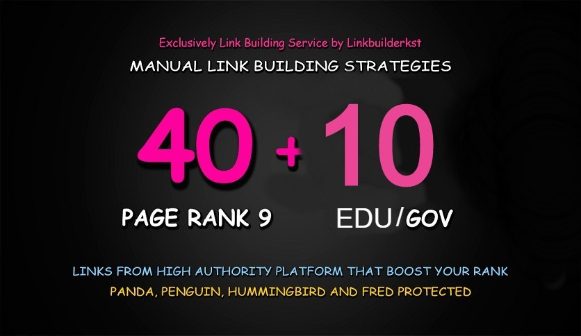 Do DA80+All 40+10 EDU/GOV High Domain Backlink For Rank On Google