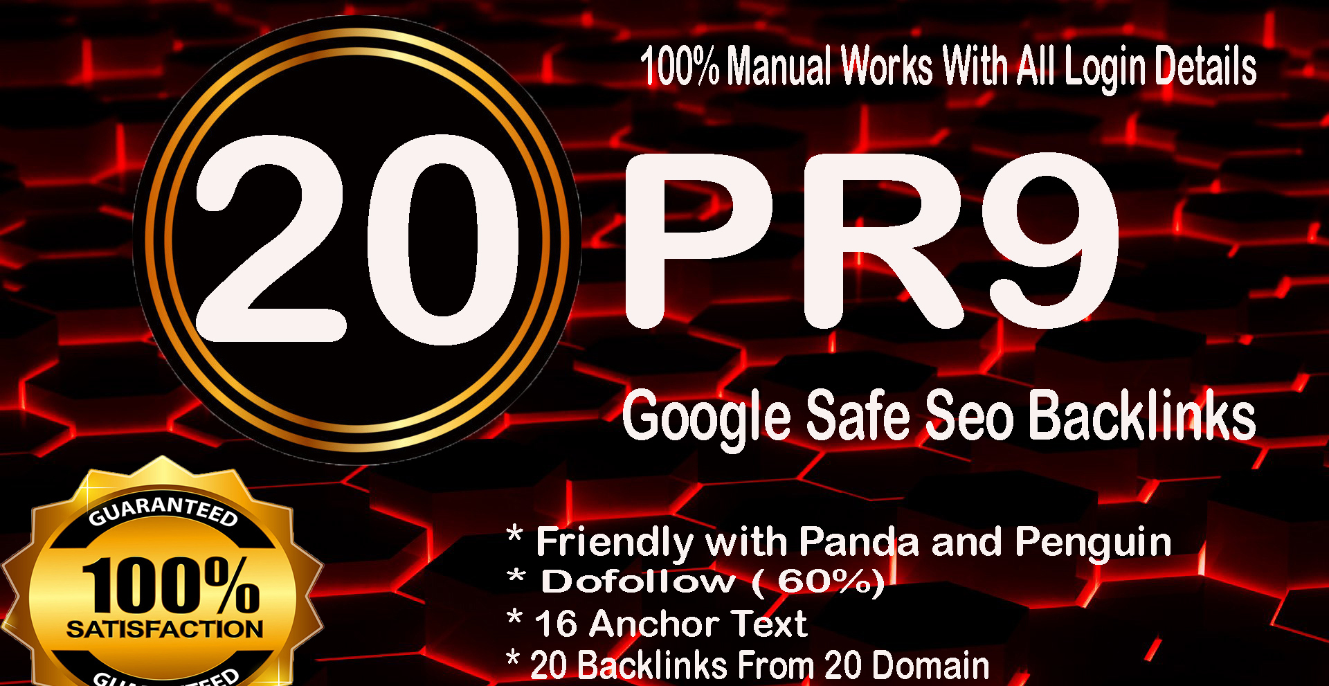 20 Pr9 High SEO Authority Backlinks For Rank your Webite Top On Google