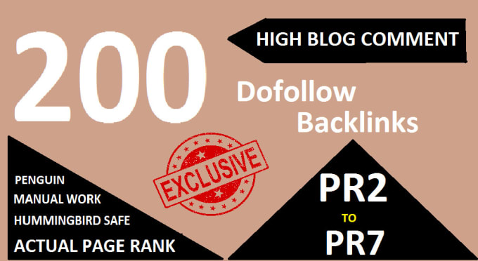 Get 200 Blogcoments Backlinks dofollow on your site