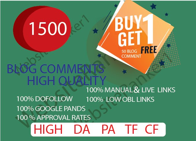 I will provide 1500 Blog comments plus FREE 10 profile backlinks for your website