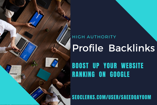 Boost up your website ranking with 30 high DA Profile Backlinks
