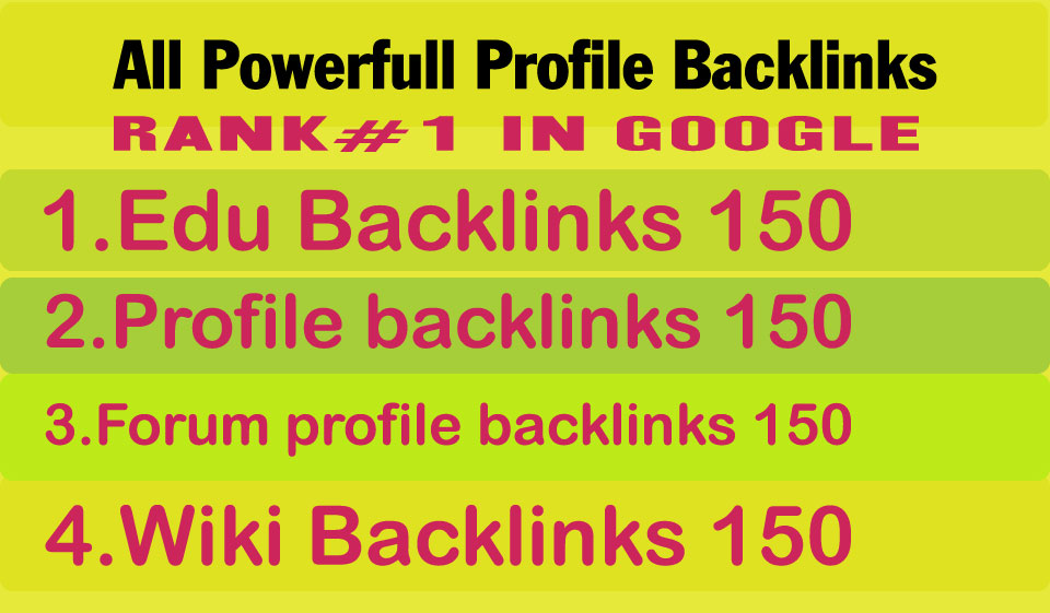 Create All In One 600 Manual High Quality Profile Backlinks For Your Site TOP Google Rankings