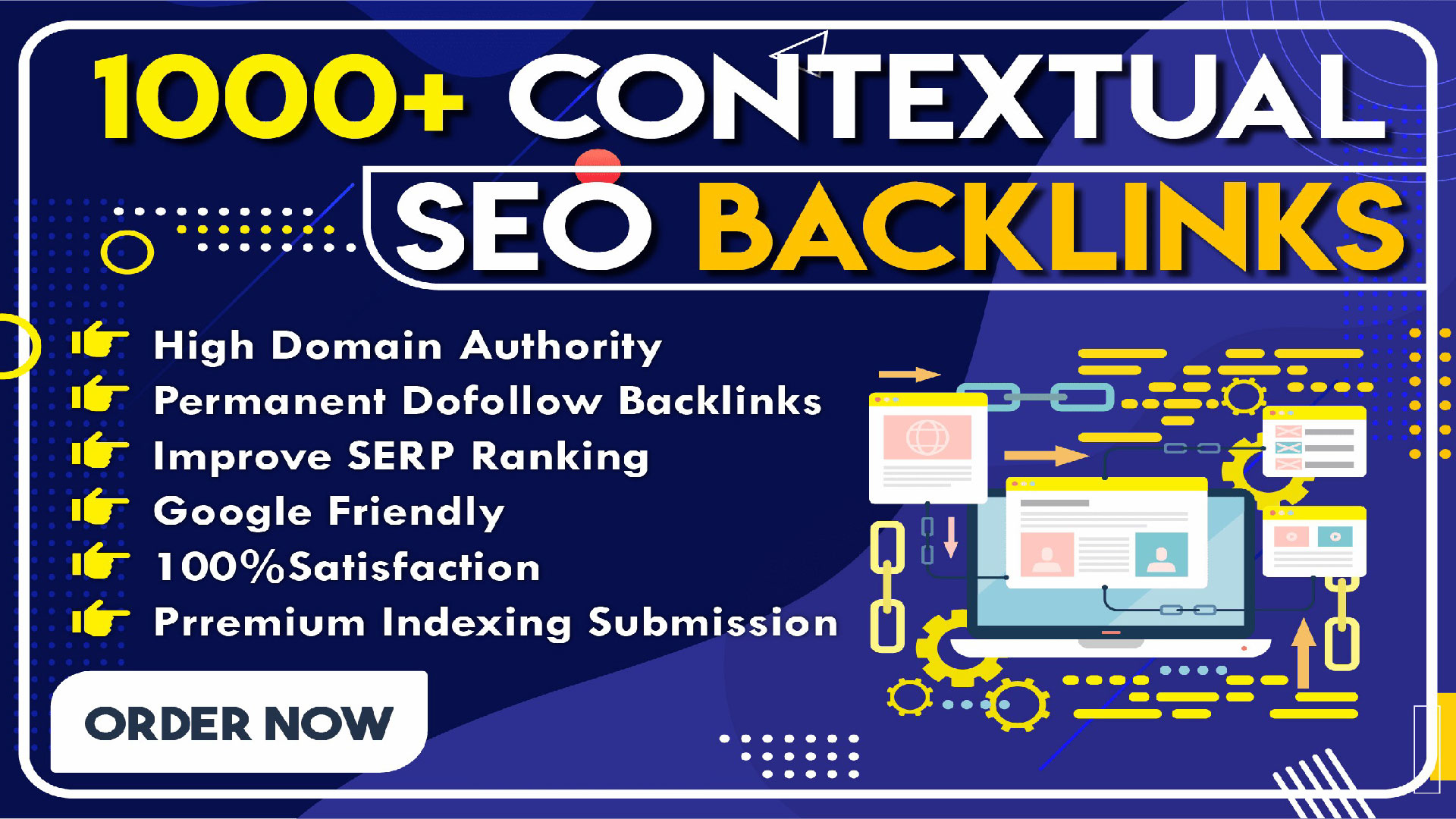 Create 1000 Manual white hat contextual dofollow backlinks For Your Website