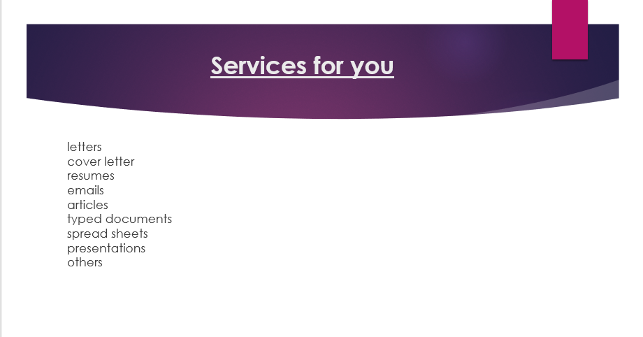 Contact for quality documents including,  letters,  emails, official documents