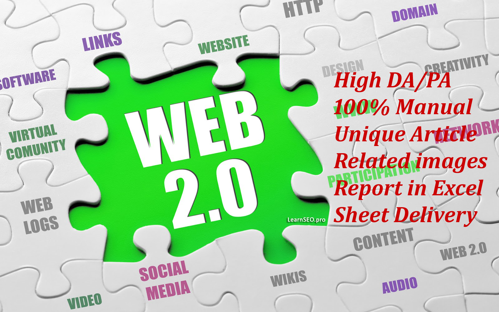 High Domain Authority 20 Web 2.0 back-links