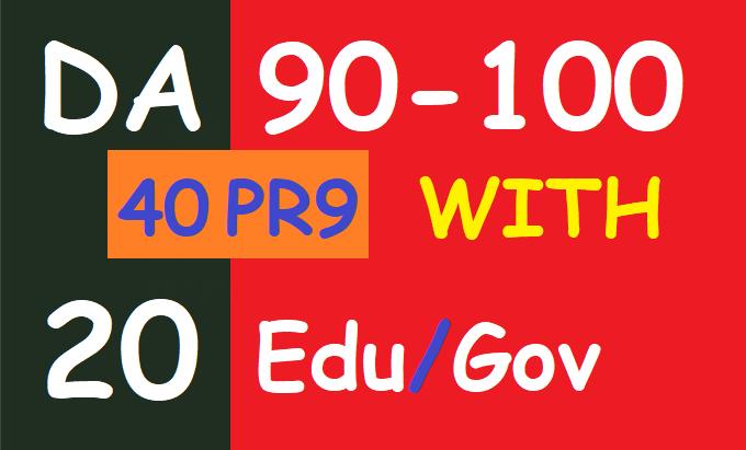 90+ DA Most Popular 45 PR9 With 20 Edu/Gov Trust Authority Profile links Manual Create ever Ranking