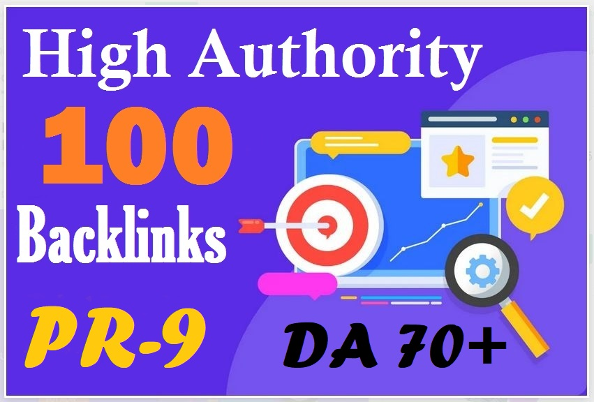 I Will Do 100 SEO backlinks 70+DA white hat manual link building service for Boost top ranking
