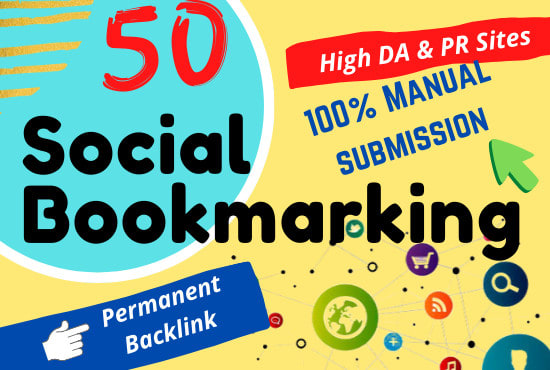 Manually Create 50 Social Bookamrks Backlinks For Improved Your Traffic & Helps to Rank