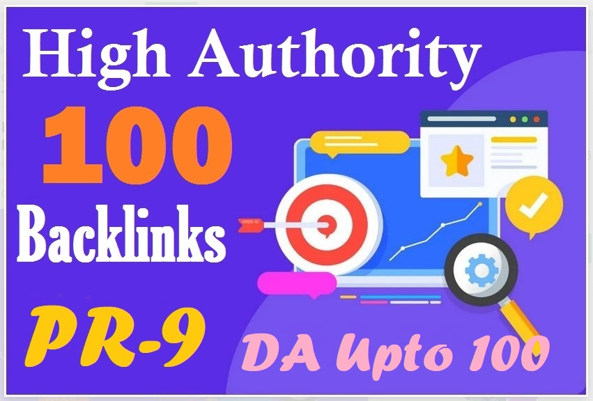 I Will Do 100 SEO backlinks Upto 100 DA white hat manual link building service for Boost top ranking