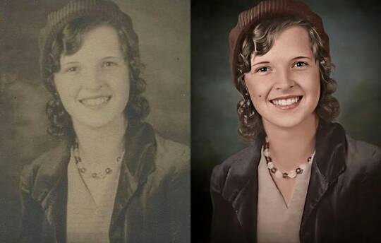 Restore/Renew your old photo, Coloring your black and white photo