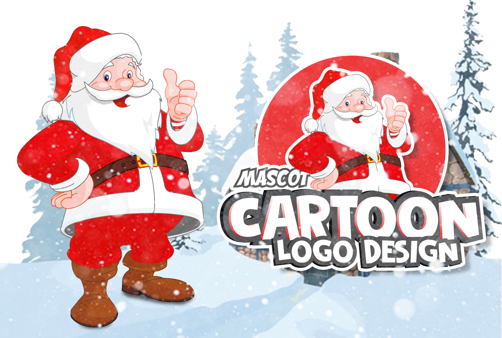 I will draw cute cartoon character and mascot logo design