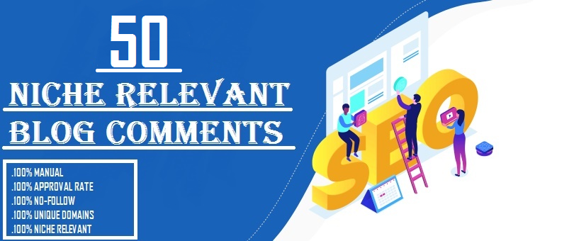 I will provide 50 niche relevant manual blog comment backlinks
