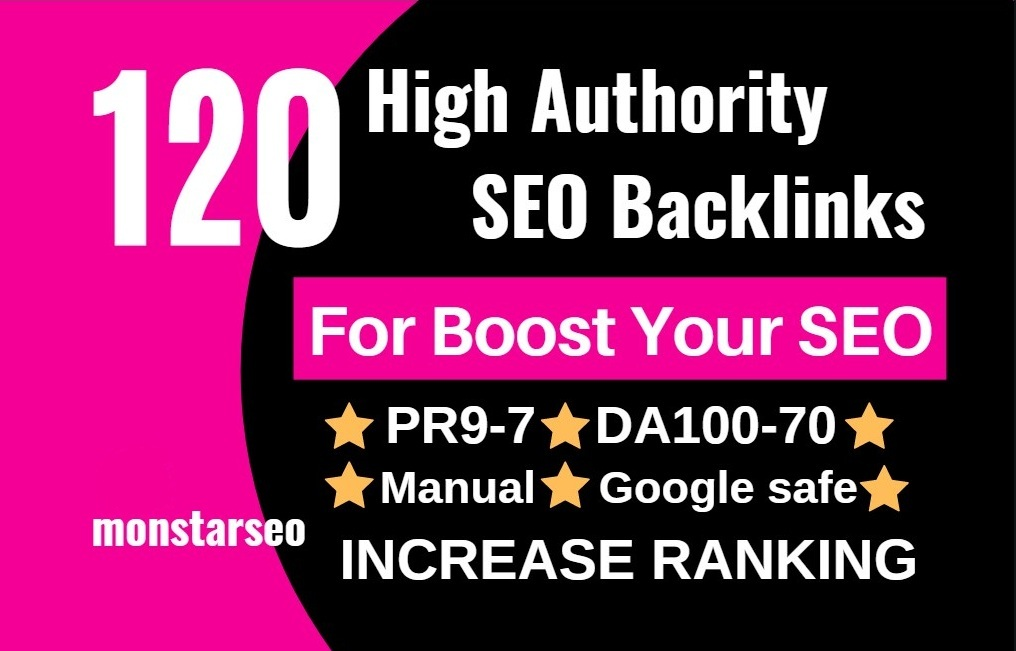 120 SEO backlinks white hat manual link building service for google top ranking