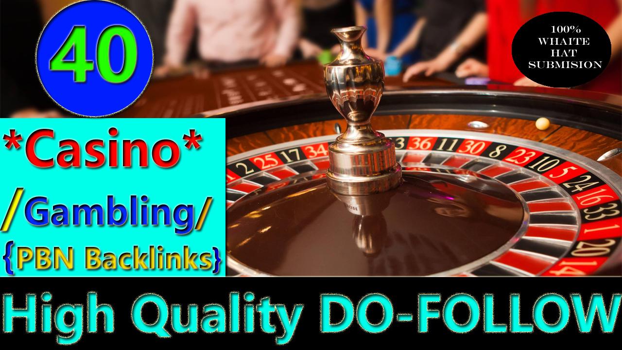 Create 40 permanent HIGH DA 58-30+ PBN Backlinks Casino,  Gambling,  Poker,  Judi Related Websites