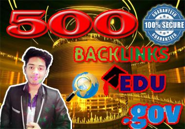 Create 500. EDU. GOV Safe SEO Dofollow Backlinks From Authority Site- Manually Work