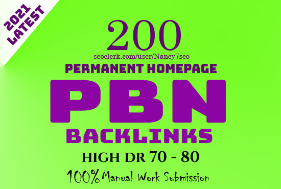 2021 latest Homepage permanent PBN dofollow backlinks