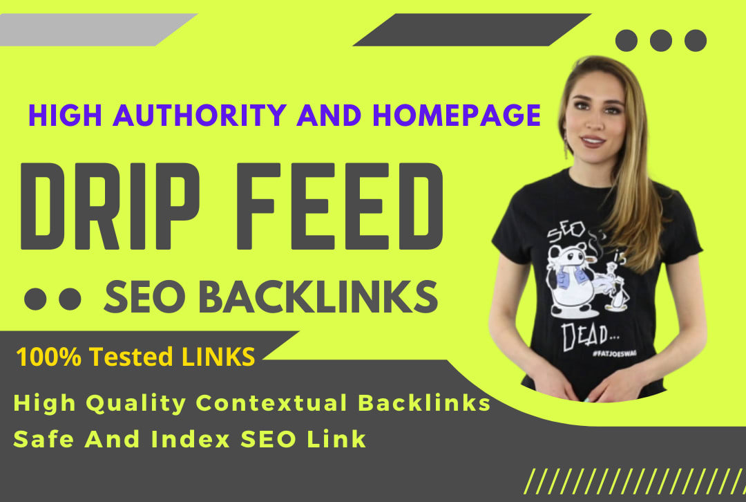 Build 2021 Latest 30 days Drip Feed SEO link building service for daily update