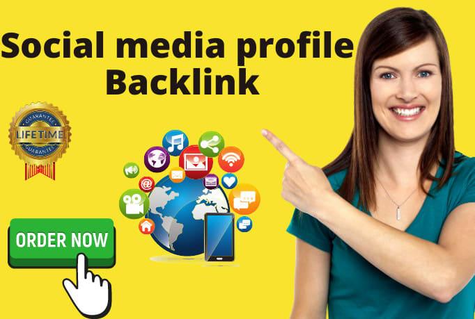 Provide 750+ social media profiles for high da pr SEO backlinks