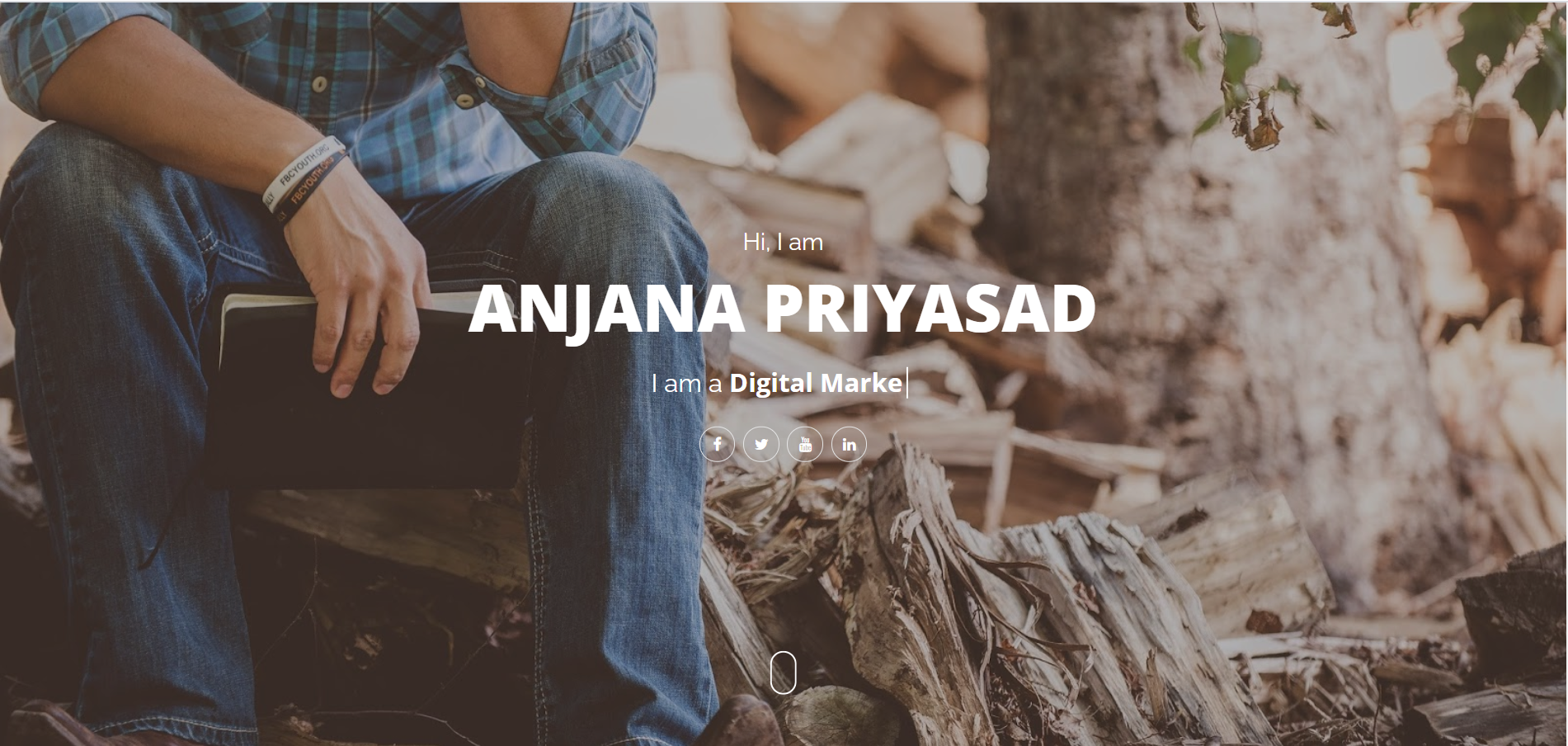 personal blogger portfolio web template for create your personal website
