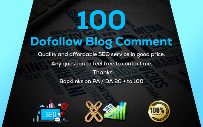 I will create 100 dofollow blog comment seo backlinks