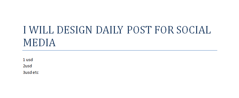 I will design daily post for social media