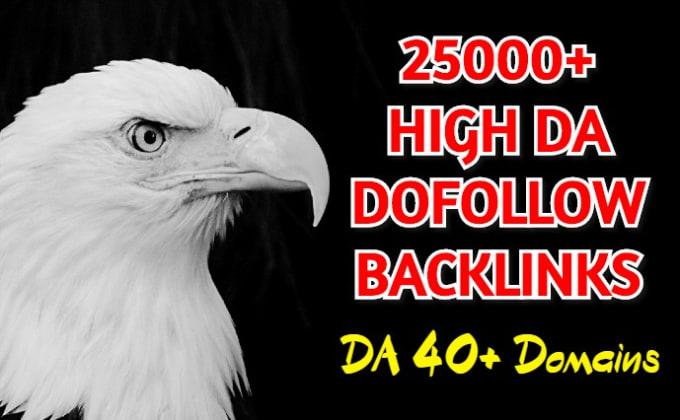 first time ever on SEOClerks 25000 plus dofollow high da backlinks