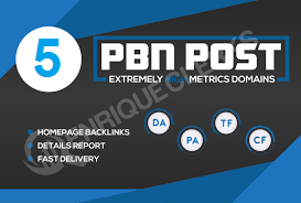 Build 5 High PA/DA TF/CF permanent posts Dofollow PBN Backlinks
