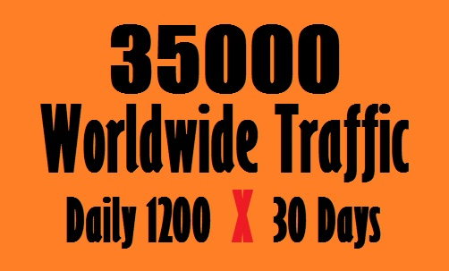 I will provide 35,000 web traffic worldwide from search engine and social media