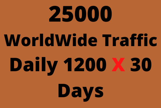 I will provide Real organic 25,000 web traffic worldwide for SALES