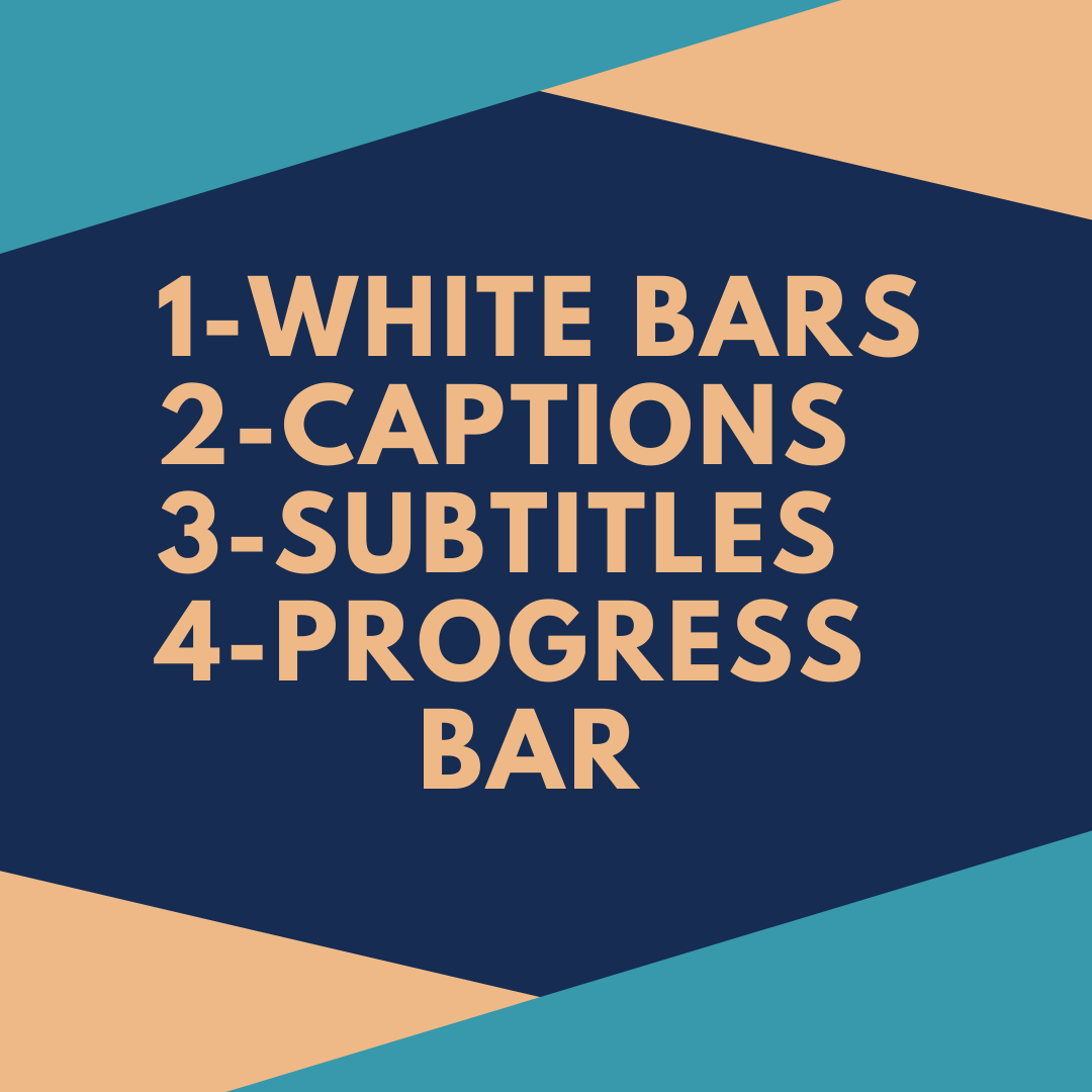 I will put white bars on instagram videos