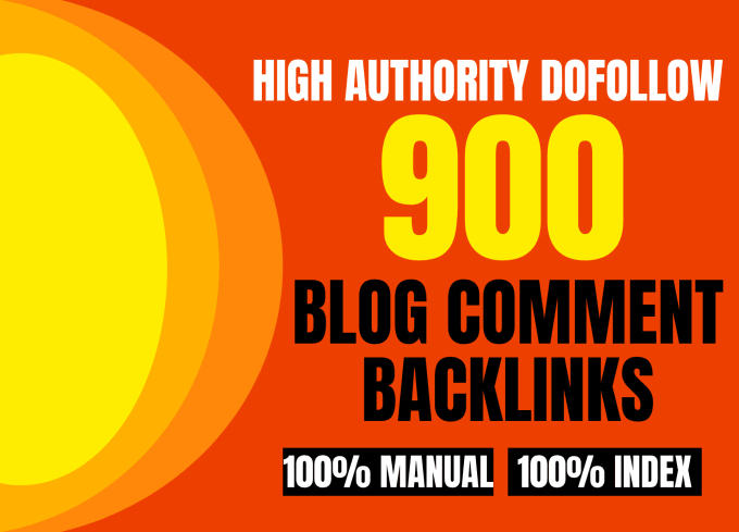 I will do 900 dofollow blogcomment backlinks