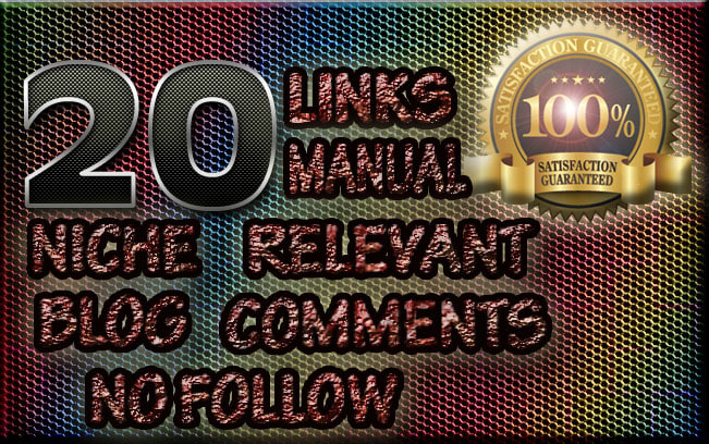 I will do 20 nofollow niche relevant blogcomment backlinks