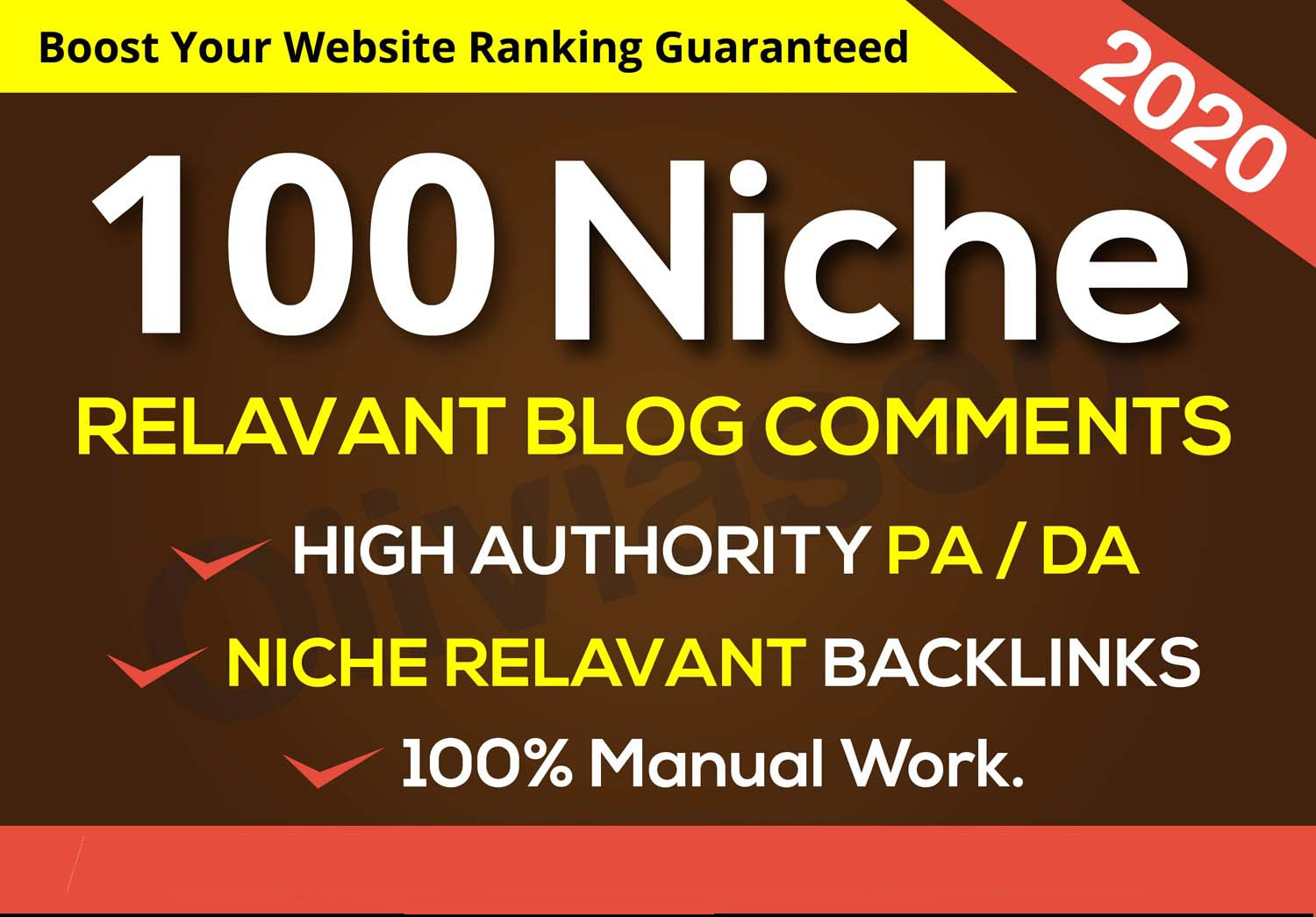 I will create 100 niche relevant blog comments
