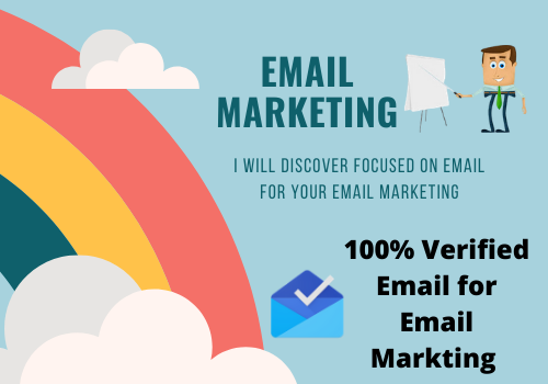 Will Provide 1000 targeted email list for email marketing