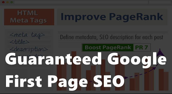 First Page Google Ranking service