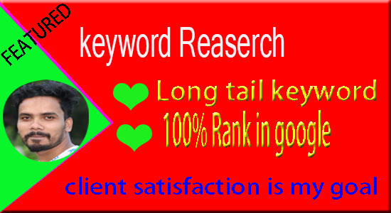 Keyword Research and competitor Google analysis