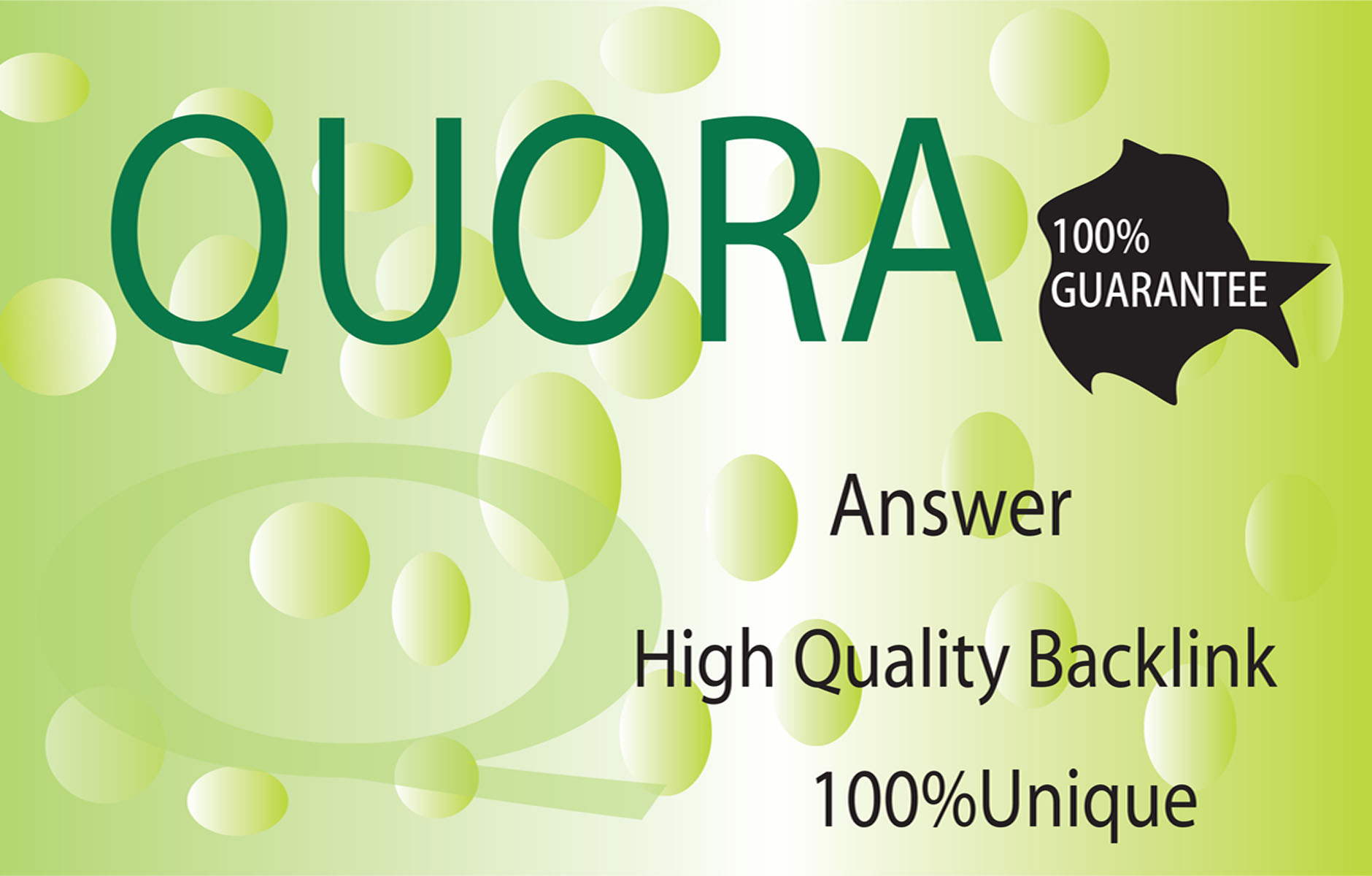 High Quality Quora Answer Backlink With Original Traffic