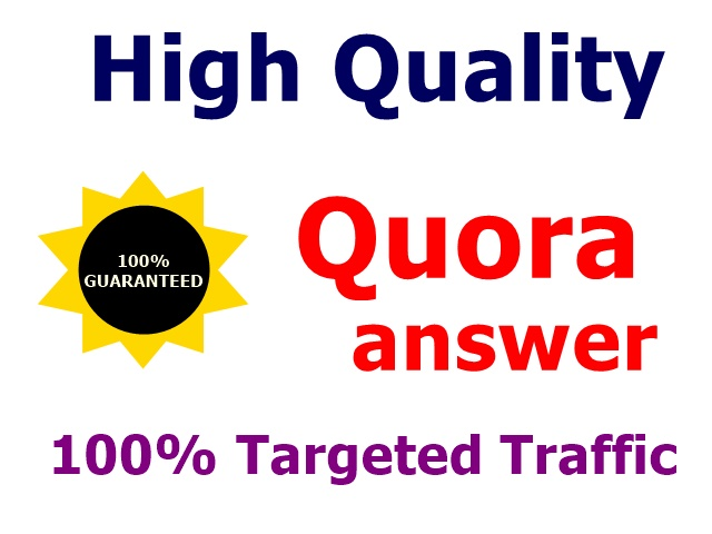 Promote your website with 10 real HQ Quora backlink