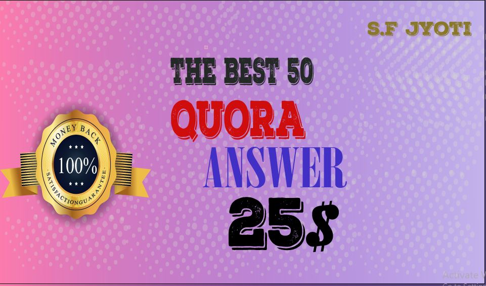 50 best QUARA answer and Get traffic from your targeted